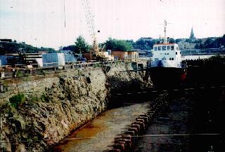 Die Werftanlagen von Beckholmem