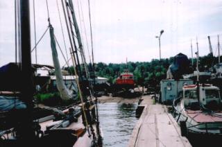 Auf der Werft in Hirvensalo