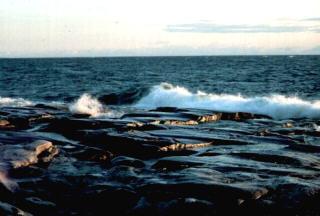 Am Strand des Bottnischen Meerbusens