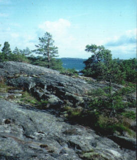 Felsformation auf der Insel Sottunga